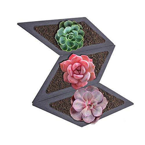 Rhombus Succulent Plants Silicone Mold Home Decoration Craft Potting Concrete Plant Cement Vase Molds for Garden Indoor Outdoor Decor (Batch Concrete Plants)