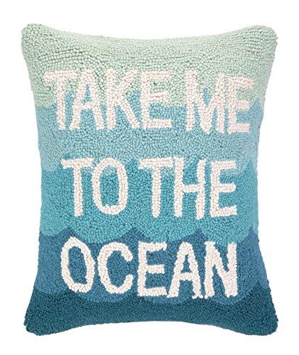 Peking Handicraft Take Me to The Ocean Hook Pillow, 14 by 18-Inch