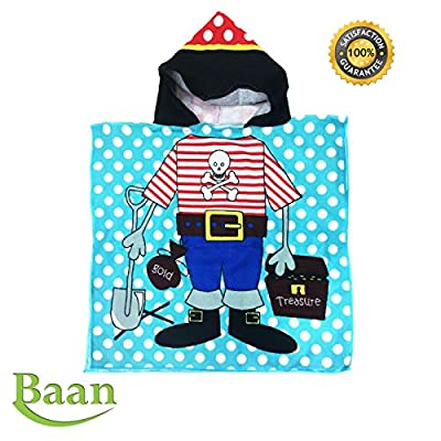 Hooded Towel For Kids   Hooded Beach and Pool Towel for Girls   Super Soft Quality Children's Towels For Ages 1 To 6 Years Old  Large Size 48 X 24 Super Absorbent Poncho Style for Baby & Toddler  