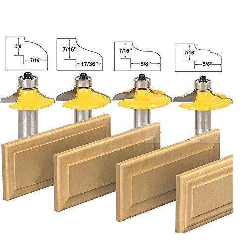 Slotting Chisel (AccOED 1/2-Shank Drawer Door Panel Lines Knife Milling Cutter Woodworking Chisel Fancy Knife-4PCS/set)