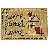 Koko Dormats Felpudo para Entrada de Casa Original, Sweet Home, Fibra de Coco y PVC, 40x60cm