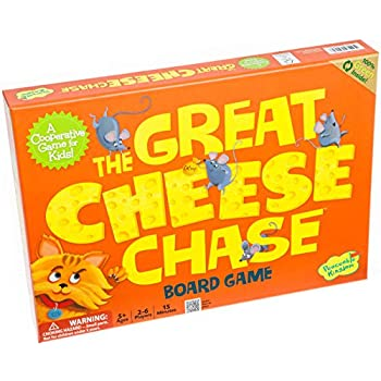 Peaceable Kingdom The Great Cheese Chase Award Winning Cooperative Helping Game for Kids