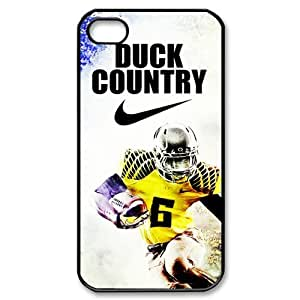 DIY Design Dream 14 Sports NCAA Oregon Ducks Footballl Print Black Case With Hard Shell Cover for Apple iPhone 4/4S-Just DO It