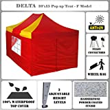 10'x15′ Pop up Canopy Wedding Party Tent Gazebo EZ Red/Yellow – F Model Commercial Frame By DELTA Canopies For Sale