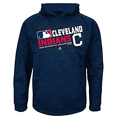 MLB Youth Authentic Collection Team Choice Streak Fleece Hoodie (Youth Large 14/16, Cleveland Indians)