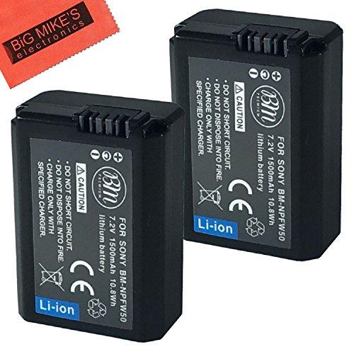 BM-Premium-2-Pack-of-NP-FW50-Batteries-for-Sony-Alpha-A3000-Alpha-A5000-Alpha-A6000-A6300-A6500-Alpha-7-A7-Alpha-7R-A7R-A7R-II-A7S-A7S-II-A7II-A99-II-NEX-3-NEX-3N-NEX-C3-NEX-F3K-NEX-5-NEX-5K-NEX-5N-NE