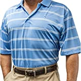 McIlhenny Spaced Railroad Striped Golf Polo 2017 Marina Blue X-Large