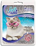 Soft Claws for Cats, Size Medium, Color Pink Glitter