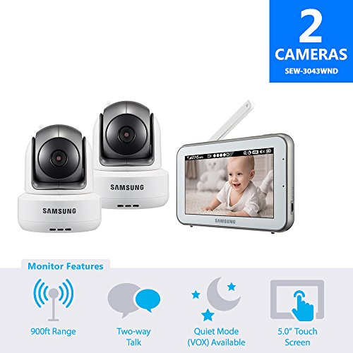 SEW-3043WND - Samsung Wisenet BrightVIEW Baby Video Monitoring System with 1 Additional Camera by Samsung