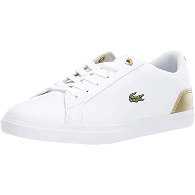 Lacoste Lerond 318 3 WhitePink Synthetic Youth Trainers