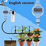 YRD TECH Family Garden Irrigation Automatic Electronic Water Timer Garden Watering (Multicolor)