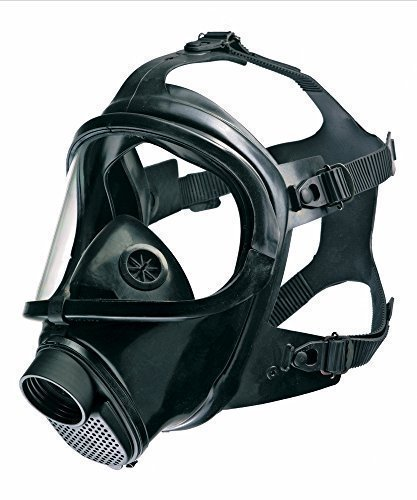 CDR 4500 Elite Gas Mask For Nuclear , Biological & Chemical Warfare NBC Protection Military Grade US NIOSH Certified Survival Full Face Mask For Kids Adults, Comfortable Robust Design by Drager