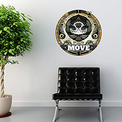 Mywonderfulwalls Sloth Wall Sticker Decal Move By Andreas Preis (Small) - Mywonderfulwalls