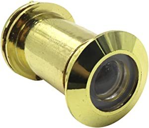 Geesatis Gold Door Viewer 220-degree with Heavy Duty Rotating Privacy Cover Wide Angle Door Viewer Security Peephole for Home Office Hotel