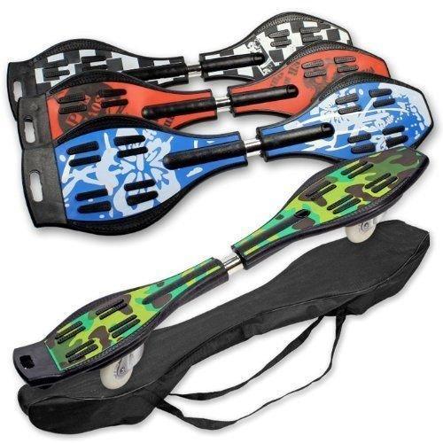 Waveboard Rojo Skateboard 2 Ruedas con Bolsa y Luz LED: Amazon.es: Juguetes y juegos