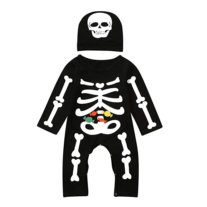 FELZ Bebe Halloween Pelele para Dormir Monos Bodies Manga Larga ...