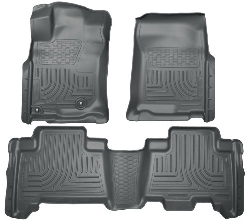 Husky Liners Front & 2nd Seat Floor Liners Fits 10-13 GX460, 10-12 (4runner 2nd Seat Floor)