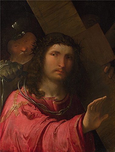 'Altobello Melone Christ Carrying The Cross ' Oil Painting, 24 X 32 Inch / 61 X 81 Cm ,printed On Polyster Canvas ,this Replica Art DecorativePrints On Canvas Is Perfectly Suitalbe For Home Theater Decor And Home Gallery Art And (Cobra Cross Costume)