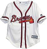 Majestic Kid's MLB Atlanta Braves White/Red Baseball Jersey