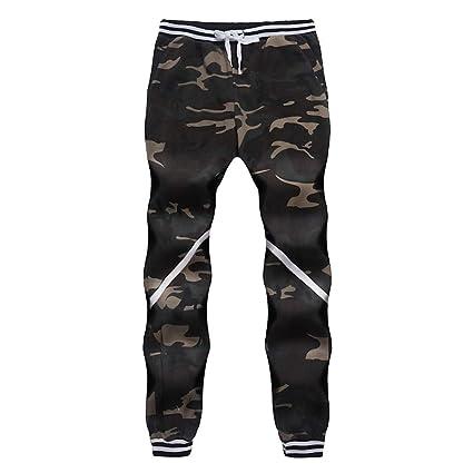 ZHRUI Pantalones de chándal para hombre, pantalones cómodos ...