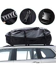 Waterproof Vehicle Roof Bag Top Box Black Large Soft Car Roof Bag for Chevrolet Vveo Cruze Malibu Trax Orlando Captiva Volt Sonic Impala Equinox Traverse Tahoe Suburban Colorado Silverado (M Size)