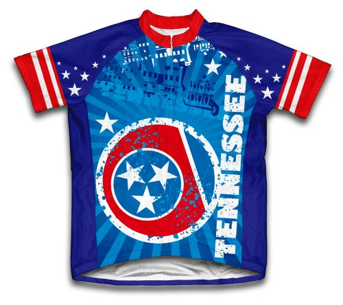 Tennessee Short Sleeve Cycling Jersey for Men - Size - Cycling Tennessee Jersey
