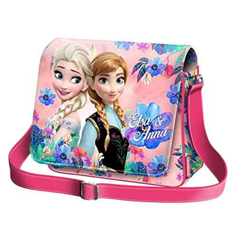 Karactermania Frozen Summer Borsa a Tracolla con Aletta Orizzontale, 37 cm, Rosa