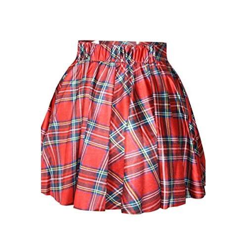 d2993dfa2 hot sale Nuevas señoras rojo Plaid cuadros tutú mujer ropa Club Wear ...