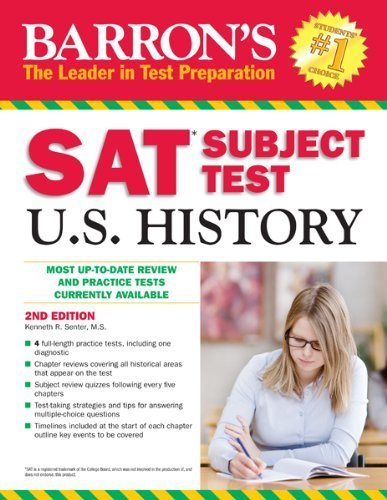 Barron's SAT Subject Test in U.S. History, 2nd Edition (Barron's Sat Subject Test U.S. History) by Kenneth Senter (2014-02-01)