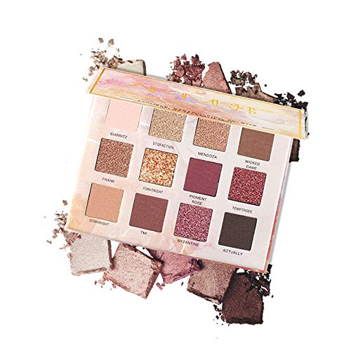 FOXCESD Eyeshadow Palette, Matte and Shimmer, Nudes Natural Smoky Glitter Eye Shadows Makeup, High Pigmented and Long Lasting - 12 Colors