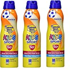 Banana Boat Kids Sport Tear-Free, Sting-Free Broad Spectrum Sunscreen Lotion Spray SPF 50+ 6oz (3Pack)