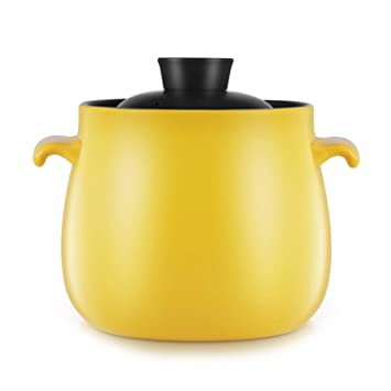 Yellow Casserole Cooker Manual Household Cerámica Japanese-Style Multifunction Gas Soup Stone Pot Health - Utensilios De Cocina Antiadherentes De Alta ...