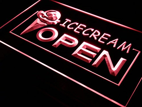 Open Ice Cream - ADV PRO i015-r Open Ice-cream Icecream Ice cream Ads Light Sign