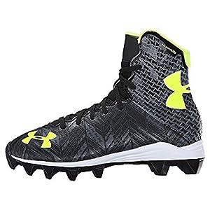 Under Armour Kids Unisex UA Lax Highlight RM Jr. Lacrosse (Little Kid/Big Kid) Black/High-Vis Yellow Athletic Shoe