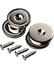 Mutuactor 2 Sets Heavy Duty 42KG Neodymium Round magnet Rare Earth Cup Magnet Countersunk Mounting Great for Door Latch or Wall Mount Tool holder