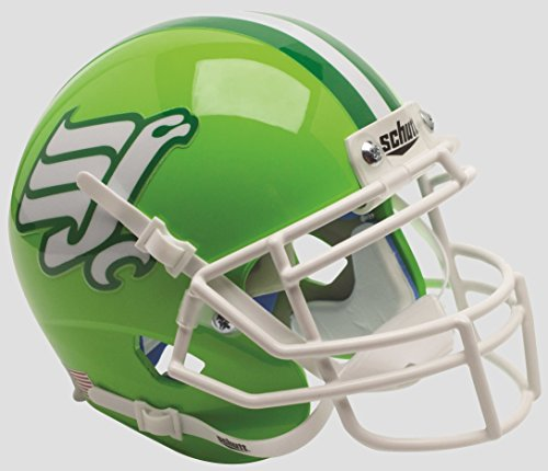 Schutt NCAA North Texas Mean Green Mini Authentic XP Football Helmet, Flying Worm 2015 Alt. 3, Mini by Schutt