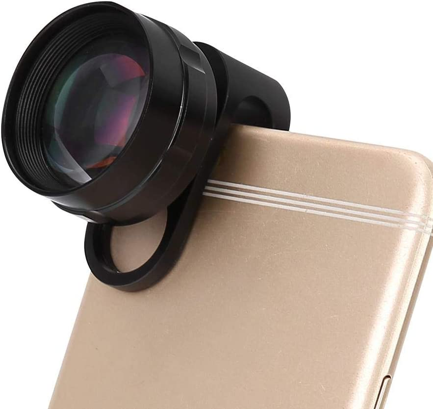 Xinwoer Metal Professional 2X Telephoto Lens for Mobile Phone Tablet PC Black