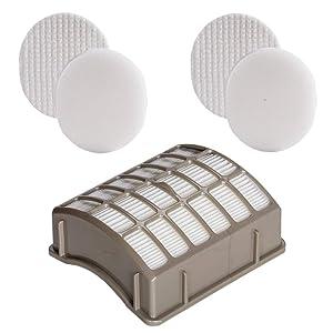 HIFROM Replacement Filter for Shark Navigator Rotator Professional NV70 NV71 NV80 NV90 NV95 NVC80C UV420 Vacuums Replaces Part# XFF80 & XHF80, 1 HEPA Filter & 2 Foam Felt Filter Kit