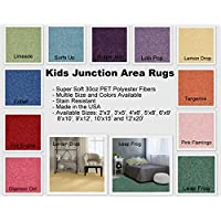 Kids Junction Area Rugs, Many Bright, Vibrant Colors to Choose From and Many (8x10, Surfs Up)