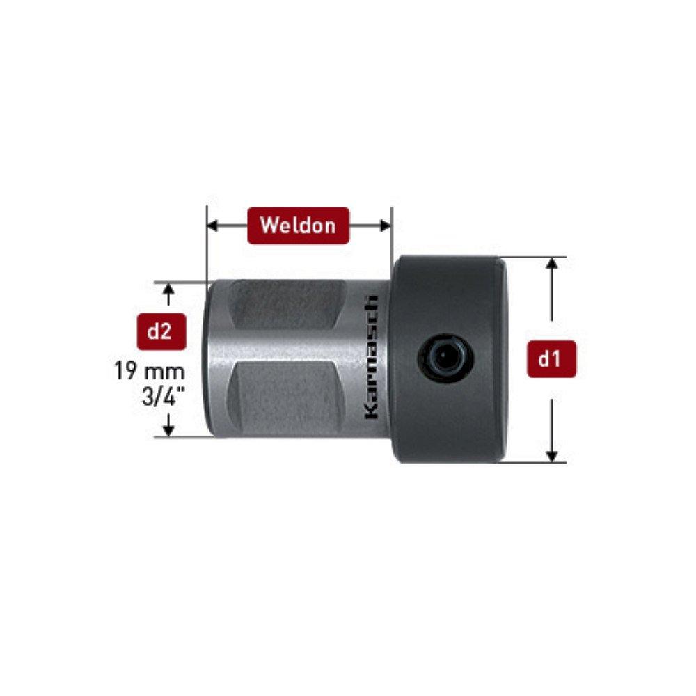 Spiralbohreradapter Adapter HSS Bohrer Spiralbohrer 19mm 3//4 Weldon d=10mm