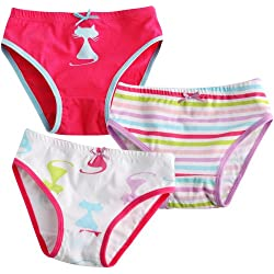Vaenait Baby 2T-7T Infant Kids Girls Briefs 3-Pack Underwear Set Cats Pop XL