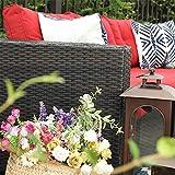 PHI VILLA Outdoor Sectional Rattan Sofa - Wicker