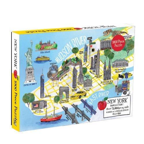 Galison New York City Map Jigsaw Puzzle (1000 Piece)
