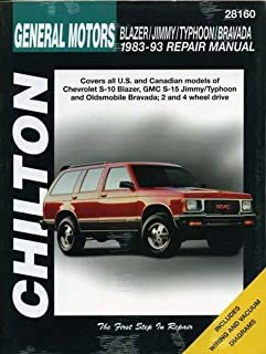 chilton s repair manual chevy s 10 blazer gmc s 15 jimmy olds rh amazon com 1999 Chevy S10 Blazer 1989 Chevrolet S10 Blazer