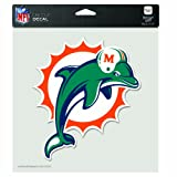 NFL Miami Dolphins 8-by-8 Inch Diecut Colored Decal