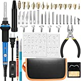 handskit Wood Burning Kits Full Set, Soldering Iron, 60w 110v Adjustable Temperature and ON/Off Switch, Comes with Various Wood Burning/Embossing/Carving&Soldering Tips for Creative Wood Burner