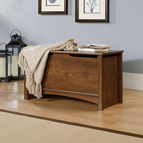Sauder Shoal Creek Storage Chest, Oiled Oak Finish (Trunk Wooden)