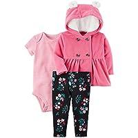 Baby Girls 3 Piece Cardigan Bodysuit and Pants Set