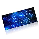 "Goldwheat Neoprene Mouse Pad Large Gaming Mouse Pad Mat Extended Office Desk Keyboard Mat with Non-slip Rubber Base Stitched Edge-35.4""x 15.7""- (Starry Night)"
