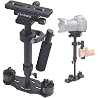 ASHANKS Handheld Stabilizer 24/60cm with Quick Release Plate 1/4 and 3/8 Screw for DSLR and Video Cameras up to 6.6lbs/3kg